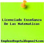 Licenciado Enseñanza De Las Matematicas