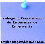 Trabajo : Coordinador de Enseñanza de Enfermeria