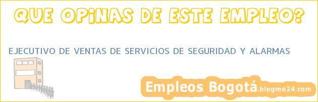 EJECUTIVO DE VENTAS DE SERVICIOS DE SEGURIDAD Y ALARMAS