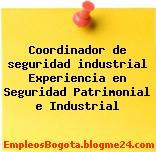 Coordinador de seguridad industrial Experiencia en Seguridad Patrimonial e Industrial
