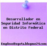 Desarrollador en Seguridad Informática en Distrito Federal