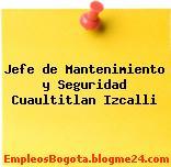 Jefe de Mantenimiento y Seguridad Cuaultitlan Izcalli