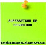 SUPERRVISOR DE SEGURIDAD