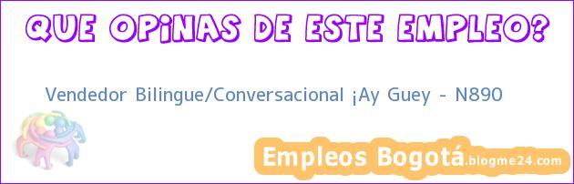 Vendedor Bilingue/Conversacional ¡Ay Guey – N890