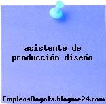 asistente de producción diseño