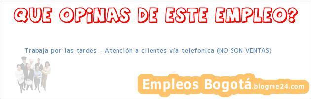 Trabaja por las tardes – Atención a clientes vía telefonica (NO SON VENTAS)