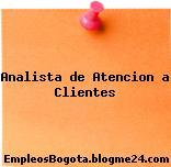 Analista de Atencion a Clientes