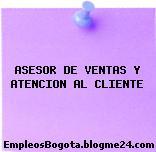 ASESOR DE VENTAS Y ATENCION AL CLIENTE