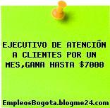 EJECUTIVO DE ATENCIÓN A CLIENTES POR UN MES,GANA HASTA $7000