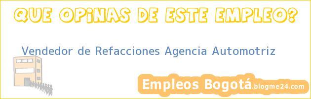 Vendedor de Refacciones Agencia Automotriz