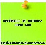 MECÁNICO DE MOTORES ZONA SUR