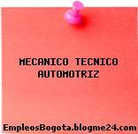 MECANICO TECNICO AUTOMOTRIZ