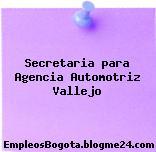 Secretaria para Agencia Automotriz Vallejo