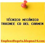TÉCNICO MECÁNICO TRAINEE CD DEL CARMEN