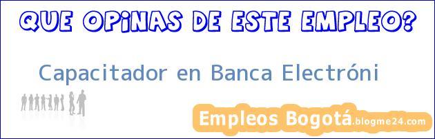 Capacitador en Banca Electróni