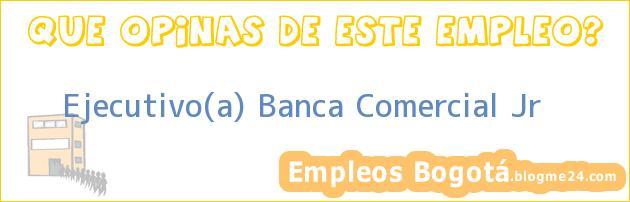 Ejecutivo(a) Banca Comercial Jr