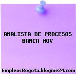 ANALISTA DE PROCESOS BANCA MOV