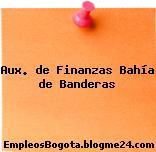 Aux. de Finanzas Bahía de Banderas