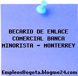 BECARIO DE ENLACE COMERCIAL BANCA MINORISTA – MONTERREY