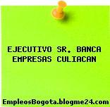 EJECUTIVO SR. BANCA EMPRESAS CULIACAN