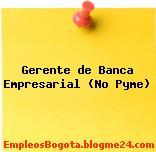 Gerente de Banca Empresarial (No Pyme)