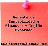 Gerente de Contabilidad y Finanzas Inglés Avanzado