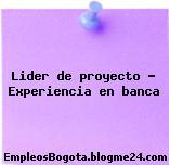 Lider de proyecto – Experiencia en banca
