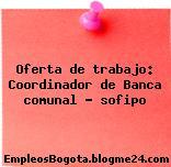 Oferta de trabajo: Coordinador de Banca comunal – sofipo
