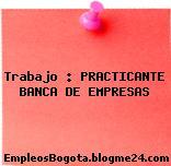 Trabajo : PRACTICANTE BANCA DE EMPRESAS