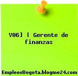 V06] | Gerente de finanzas