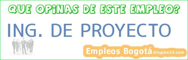 ING. DE PROYECTO