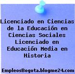 Licenciado en Ciencias de la Educación en Ciencias Sociales Licenciado en Educación Media en Historia