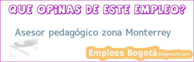 Asesor pedagógico zona Monterrey