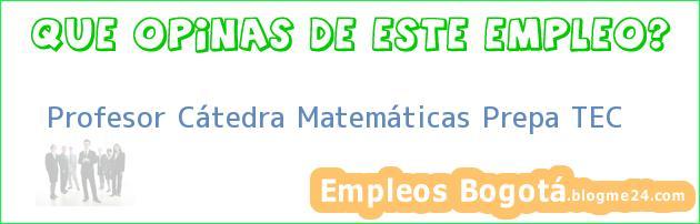 Profesor Cátedra Matemáticas Prepa TEC