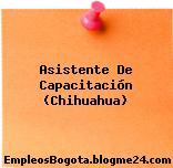 Asistente De Capacitación (Chihuahua)