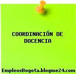 COORDINACIÓN DE DOCENCIA