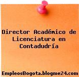 Director Académico de Licenciatura en Contadudría