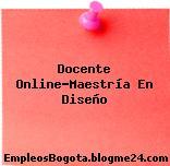 Docente Online-Maestría En Diseño
