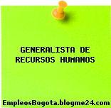 GENERALISTA DE RECURSOS HUMANOS