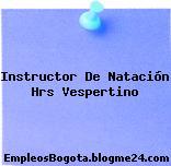 Instructor De Natación Hrs Vespertino