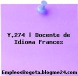 Y.274 | Docente de Idioma Frances