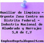 Auxiliar de limpieza – Urgente Zona Centro en Distrito Federal – Industria Nacional de Alumbrado y Herrajes S.A de C.V