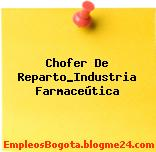 Chofer De Reparto_Industria Farmaceútica