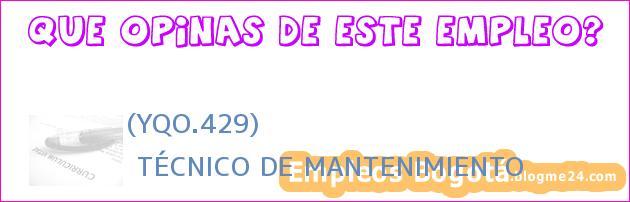 (YQO.429) | TÉCNICO DE MANTENIMIENTO