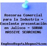 Asesoraa Comercial para la Industria – Excelente presentación en Jalisco – SORAA MASSIVE SEARCHING