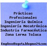 Prácticas Profesionales Ingeniería Química Ingeniería Mecatrónica Industria Farmacéutica Zona Lerma Toluca