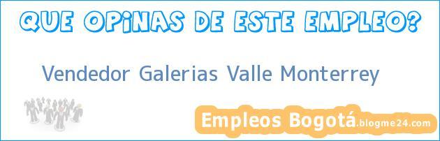 Vendedor Galerias Valle Monterrey