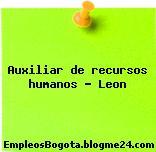 Auxiliar de recursos humanos – Leon