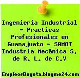 Ingenieria Industrial – Practicas Profesionales en Guanajuato – SAMOT Industria Mecánica S. de R. L. de C.V