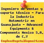 Ingeniero de ventas y soporte técnico – Para la Industria Automotriz en Guanajuato – Advanced Equipments & Components Mexico S.A. de C.V